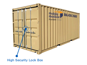 20 foot Shipping Containers with High-Security Lock Box