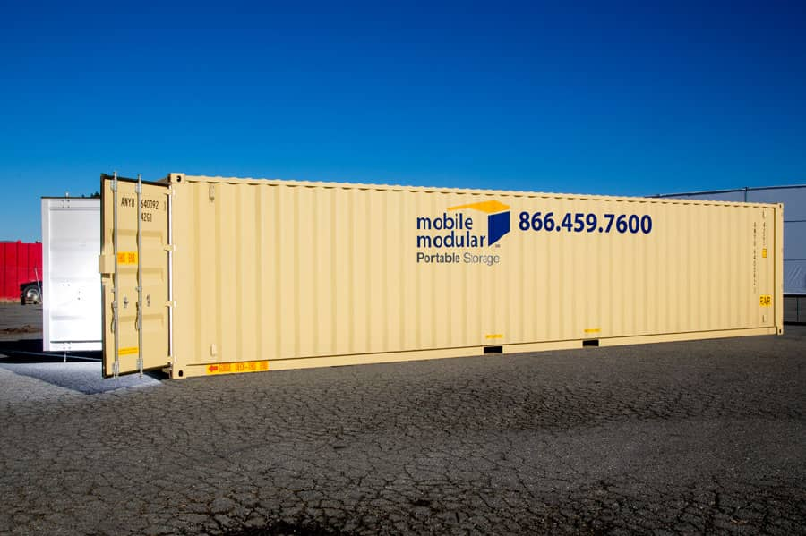 Portable Storage Containers 40ft-with-double-doors-and-high-security-lock-box