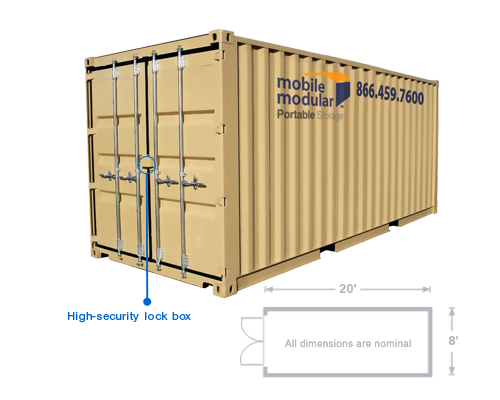 20u0027 Storage Container with High-Security Lock Box Features  sc 1 st  Mobile Modular Portable Storage & Mobile Modular Portable Storage